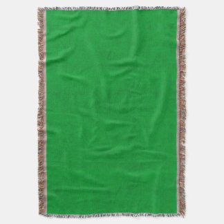 Neon Green Color Velvet Look Grass Green Throw Blanket