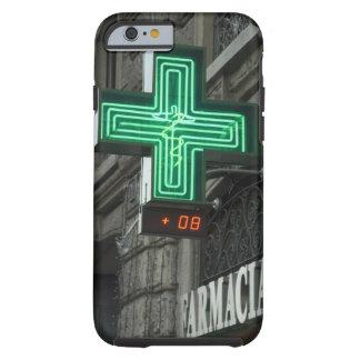 Neon Green cross outside Farmacia (Drug store or Tough iPhone 6 Case