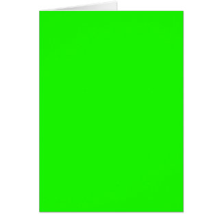 Neon Green Custom Colored personalized Card