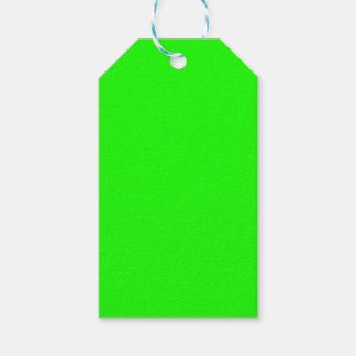 Neon Green Custom Colored personalized Gift Tags