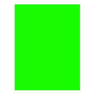 Neon Green Custom Colored personalized Postcard
