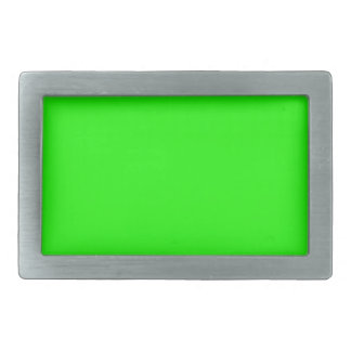 Neon Green Custom Colored personalized Rectangular Belt Buckle