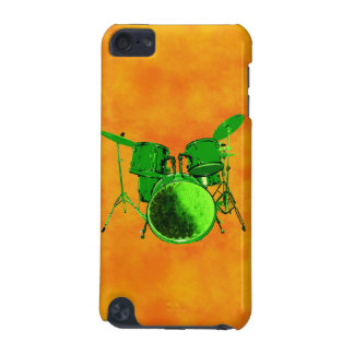 Neon Green Drum Set Orange Fog I Pod Case