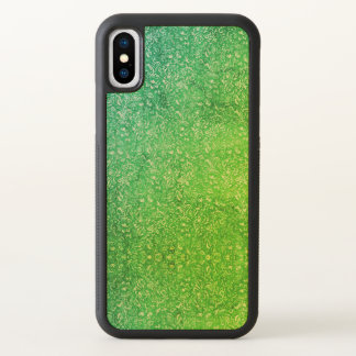 Neon Green Floral Bright Colorful Vitality iPhone X Case