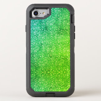 Neon Green Floral Bright Colorful Vitality OtterBox Defender iPhone 8/7 Case