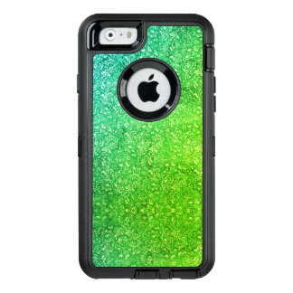 Neon Green Floral Bright Colorful Vitality OtterBox Defender iPhone Case