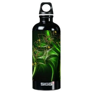 Neon Green Floral Fractal SIGG Traveler 0.6L Water Bottle