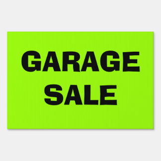Neon Green GARAGE SALE Sign!