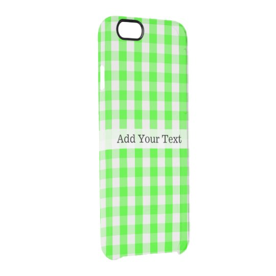 Neon Green Gingham Pattern by Shirley Taylor Clear iPhone 6/6S Case