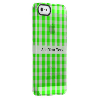 Neon Green Gingham Pattern by Shirley Taylor Clear iPhone SE/5/5s Case