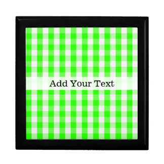 Neon Green Gingham Pattern by Shirley Taylor Gift Box