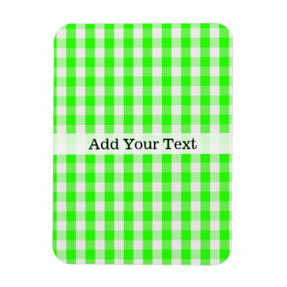 Neon Green Gingham Pattern by Shirley Taylor Magnet