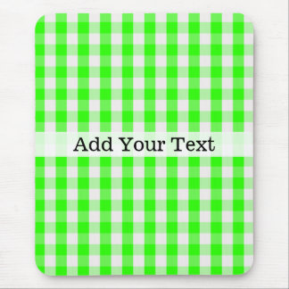 Neon Green Gingham Pattern by Shirley Taylor Mouse Pad