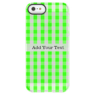 Neon Green Gingham Pattern by Shirley Taylor Permafrost® iPhone SE/5/5s Case