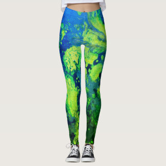 Neon Green Haze Leggings