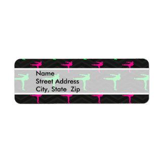 Neon Green, Hot Pink, Karate, Black Chevron Labels
