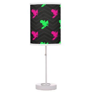 Neon Green, Hot Pink, Motocross, Black Chevron Table Lamp