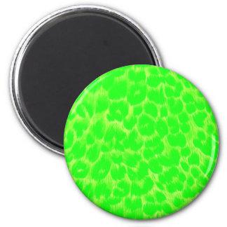 Neon Green Leopard Print Magnet
