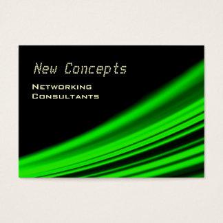 Neon Green Modern Business Card