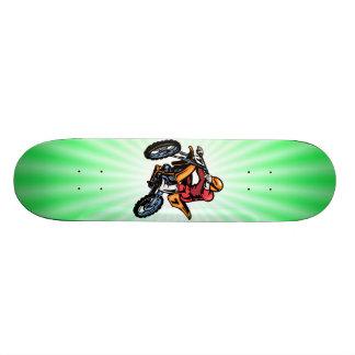 Neon Green Motocross Skateboard Deck