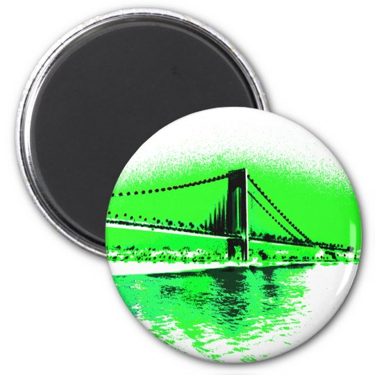 Neon Green Narrows magnet