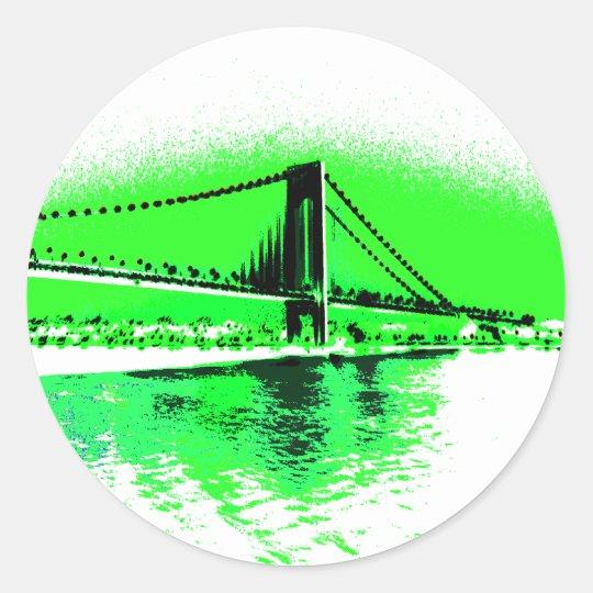 Neon Green Narrows sticker