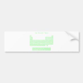 Neon Green Periodic Table Bumper Sticker