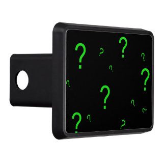 Neon Green Question Mark Trailer Hitch Cover