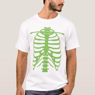neon green ribcage t-shirt