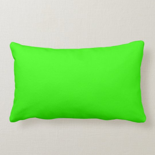 Neon Green Solid Background Colour Lime Bright Lumbar Pillow