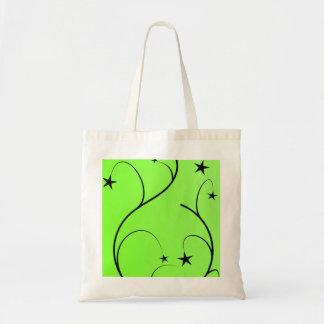 Neon green spiral bag