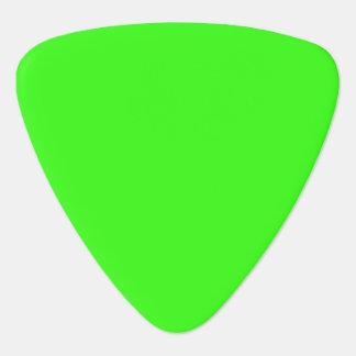 Neon Green Triangle Guitar Pick