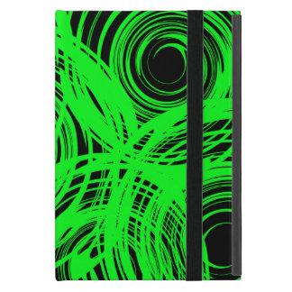 Neon Green Twirl iPad Mini Case with Kickstand