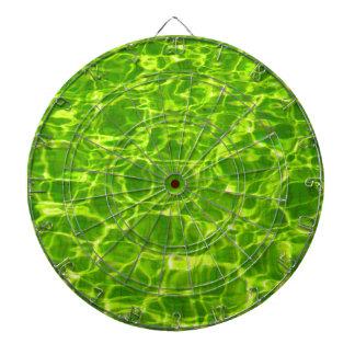 Neon Green Water Patterns Background Blank Modern Dartboard