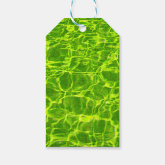 Neon Green Water Patterns Background Blank Modern Gift Tags
