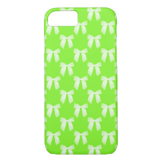 Neon Green White Bow iPhone 7 Case