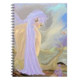 Neon-Haired Mermaid Notebooks