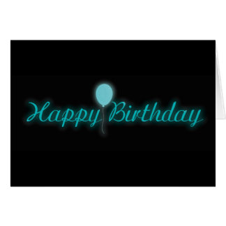 Neon Happy Birthday Sign Card