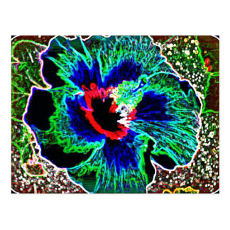 Neon Hawaiian Hibiscus prints Postcard