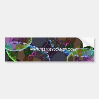 Neon Heart Abstract Bumper Sticker
