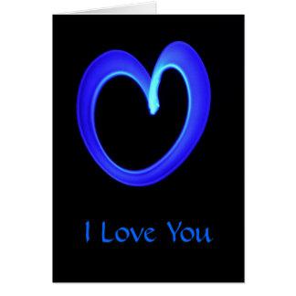 Neon Heart Card