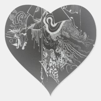 Neon Heart Heart Sticker