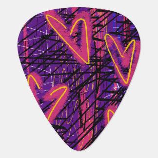 Neon Heart Pick