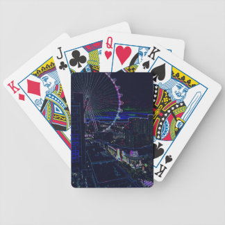 Neon High Roller Ferris Wheel Abstract Vegas Bicycle Playing Cards