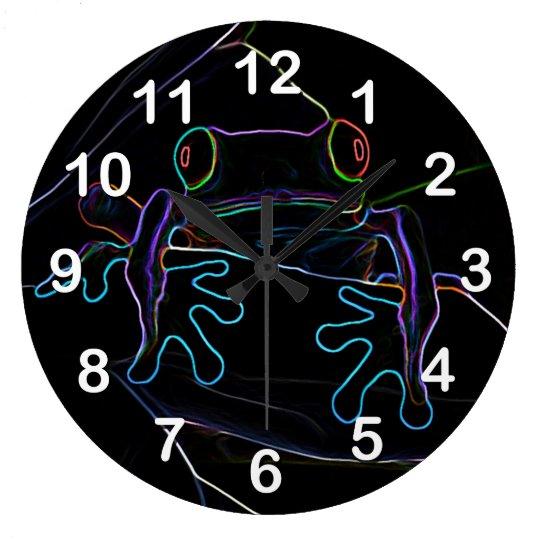 Neon Hopper Wall Clock