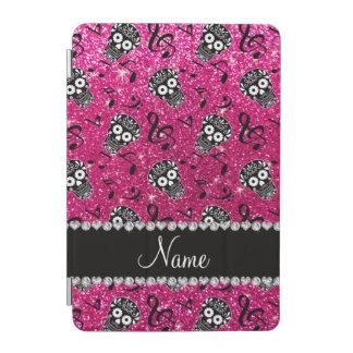 Neon hot pink glitter music notes sugar skulls iPad mini cover
