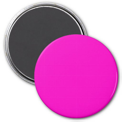 Neon Hot Pink Light Bright Fashion Color Trend Refrigerator Magnet