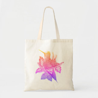 Neon Hummingbird Tote Bag