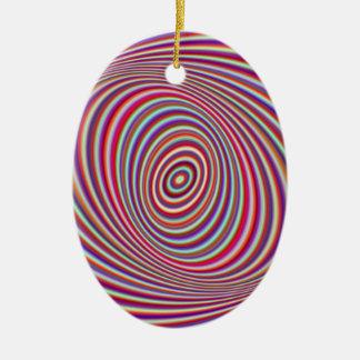 Neon hypnosis ceramic oval ornament