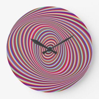 Neon hypnosis large clock
